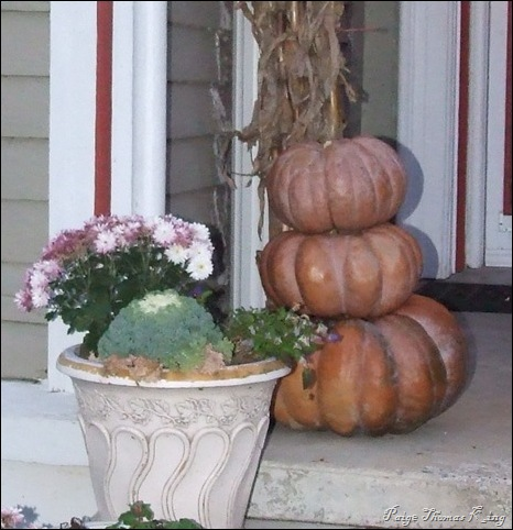 stack pumpkins