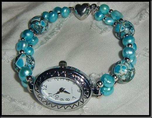 turkis klokke armbånd