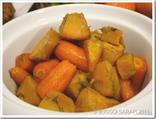 ROASTED PUMPKIN & CARROTS WITH DUCK FAT© BUSOG! SARAP! 2011