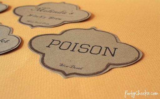 image relating to Free Printable Halloween Apothecary Labels named Printable Halloween Apothecary Labels - Poofy Cheeks