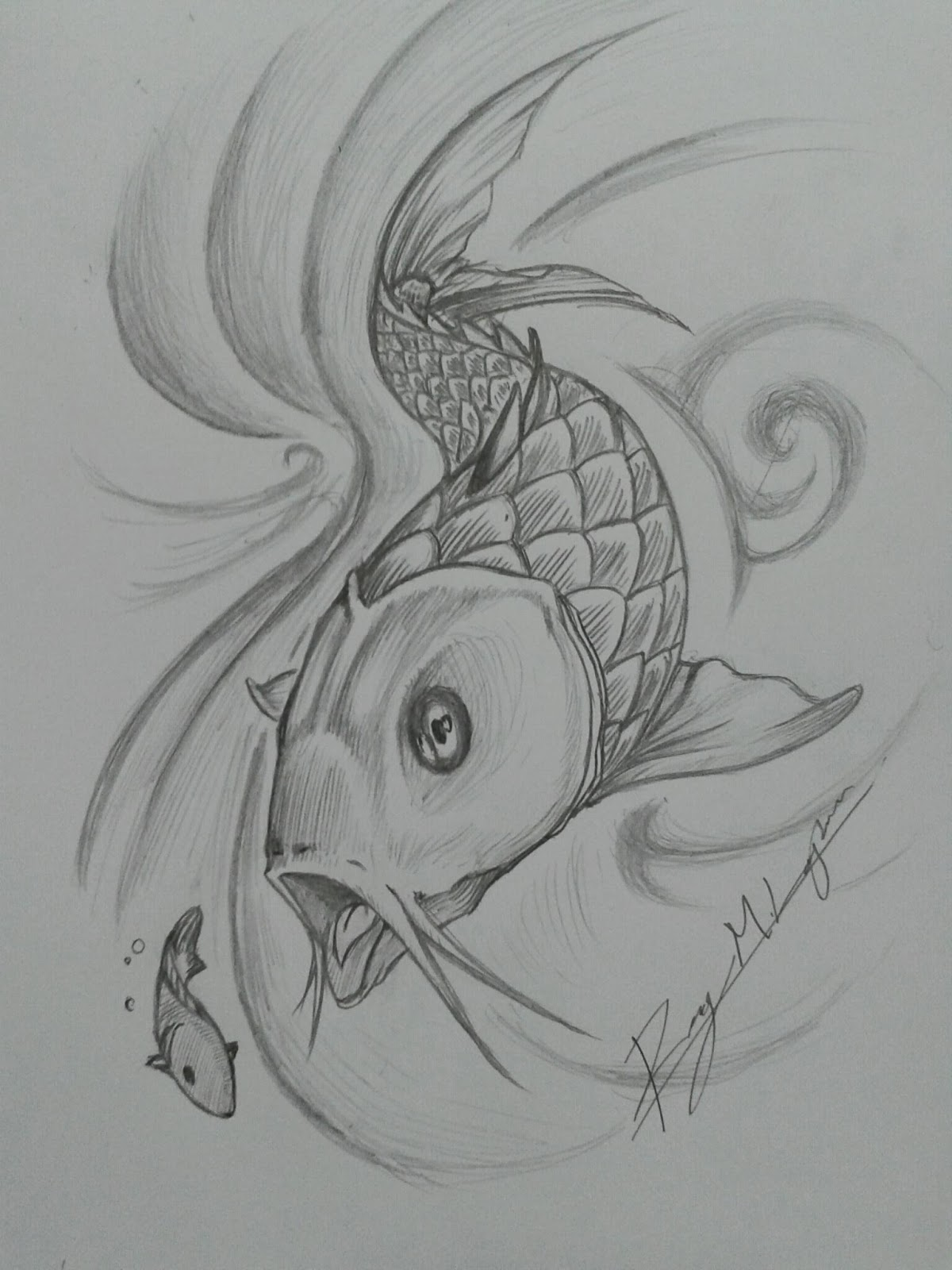 Fish Eating Fish Tattoo Big Fish Eat Small Prey