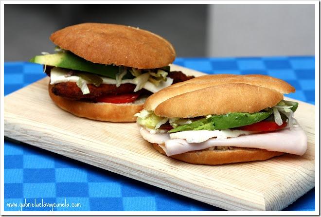 Mexican Ham Sandwich Recipe | Torta de Jamón Mexicana
