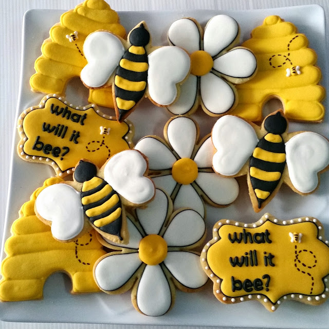 bee, hive, daisy and what would it bee cookies