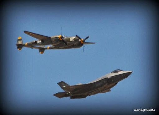 First Generation (B-38) & Latest Generation (F-35) Fighters