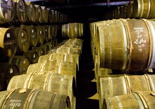 cognac-barrells