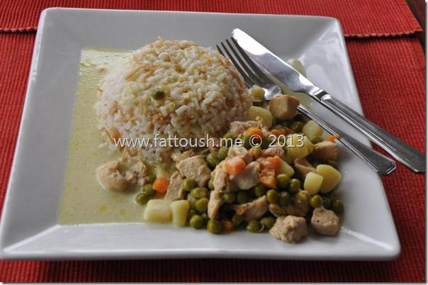 وصفة الدجاج بحليب جوز الهند من www.fattoush.me