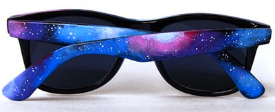 Space Galaxy Nebula Cosmic Custom Wayfarer Style Sunglasses from Ketchupize