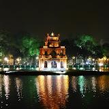 Pagode i Hoan Kiem søen i Hanoi