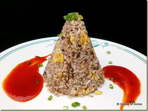 fried rice with anchovies