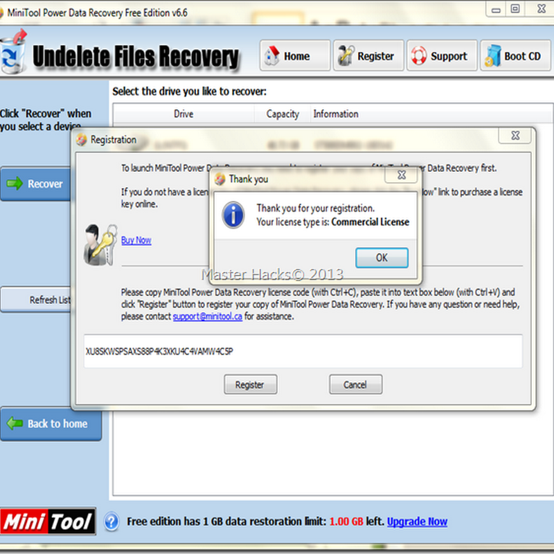 MiniTool Power Data Recovery 6.6 Full version With Serial Key
