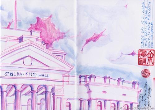 St Kilda Townhall Sketch