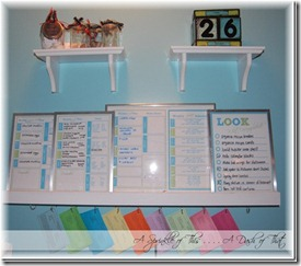 Message center above kitchen desk {A Sprinkle of This . . . . A Dash of That}_thumb[1]