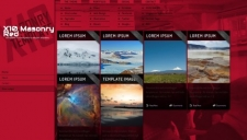 X10 masonry red blogger template 225x128