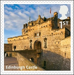 E - Edinburgh Castle stamp
