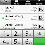 The call log screen has been customized by Acer and looks really nice. The same look follows for the contacts as well