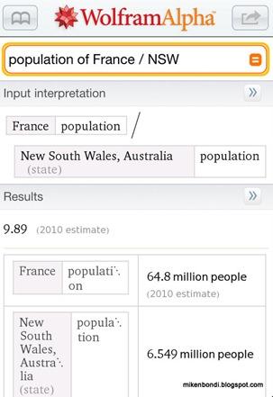 France-NSW population