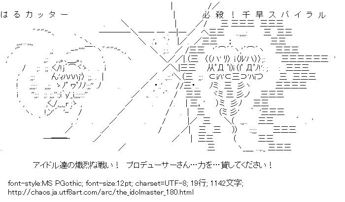 アイドルマスター,天海春香,如月千早,ファイト