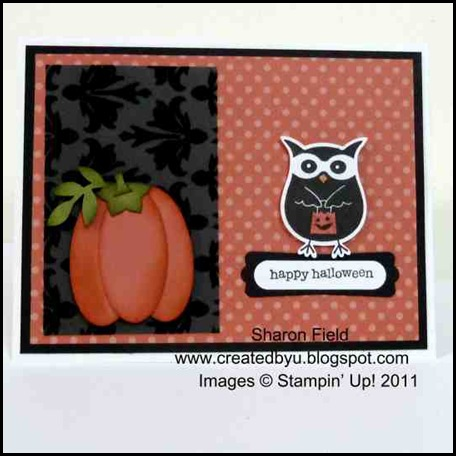 Owl punch, stampin up, shop online, join stampin up, Scarecrow Box & Card, Kim Score, Spatacular Halloween Party, Julie Edmonds, Memo Board, cpc, Laurie Zoellmer, craft project central, blog candy, october, membership, sharon_field, createdbyu.blogspot.com, projects, big shot, kid friendly, cork, 3-d, cards, holidays, pumpkins, punches