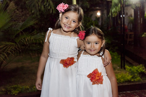 The adorable little ladies in their custom attire.