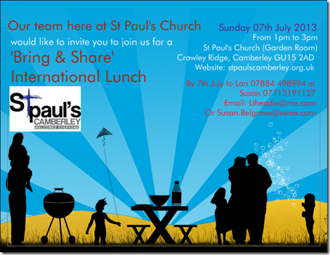 St Paul's International Lunch Invite