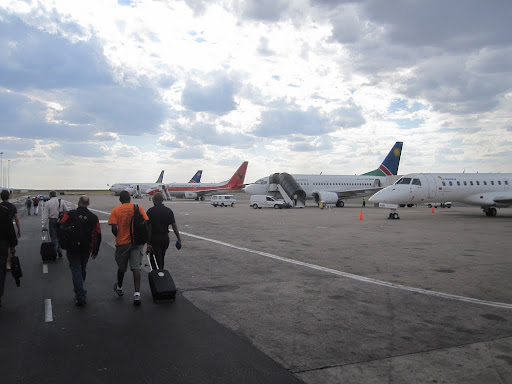 Lots of interesting airlines on the apron at WDH - that's Windhoek
