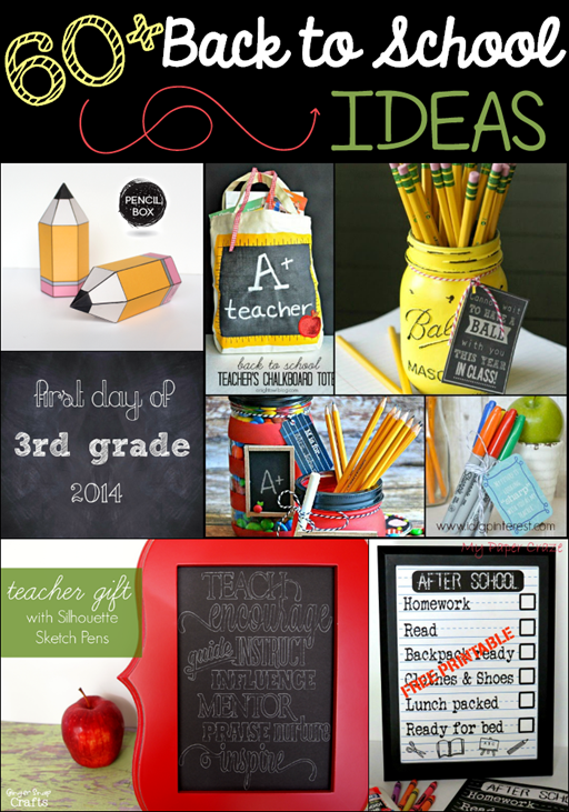 60  Back to School Ideas at GingerSnapCrafts.com #linkparty #features #backtoschool