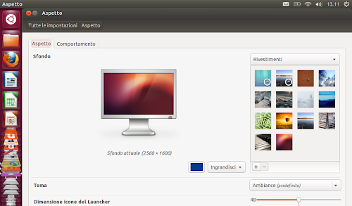 Ubuntu 12.10 - Aspetto