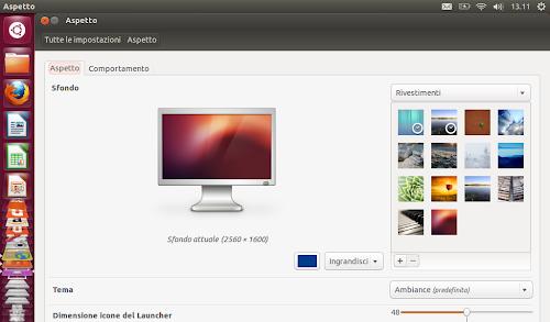 Ubuntu 12.10 - Aspetto