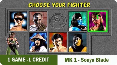 1 game - 1 credit - MK1-Sonya