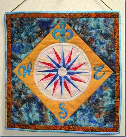Mariner's Compass wall hanging