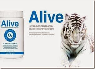 Alive™ Концентрированный порошок для стирки белых и цветных тканей