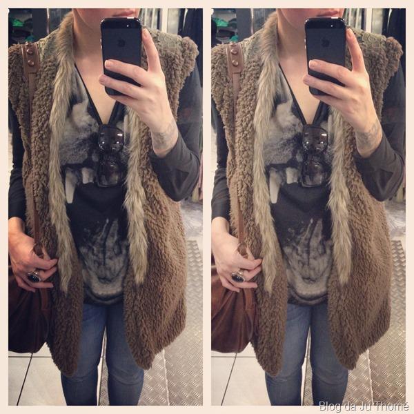 look jeans, camiseta e maxi colete (2)