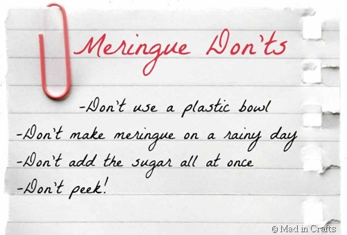Merigue Don'ts