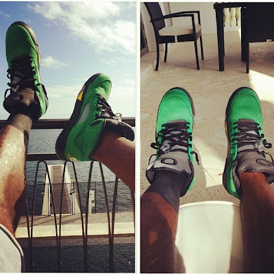kings feet 2013 12 jordan 5 oregon.jpg King James Wears LeBron 11 Florida Gators Home PE