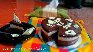 Resep Triple Chocolate Mousse Cake
