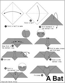 murcielago diagrama origami
