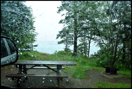 1c - rainy day ride - Cobscook Bay State Park - small waterfront site