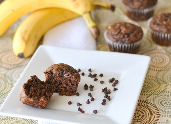 Yummy Double Chocolate Cinnamon Banana Muffins!