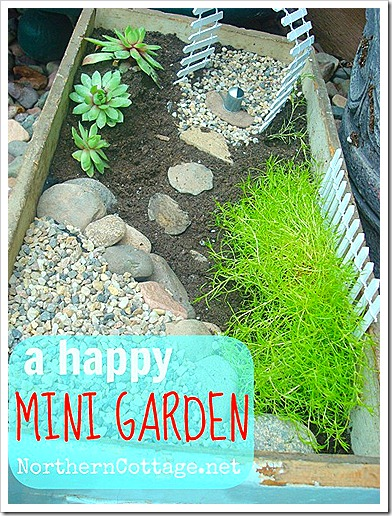 how to make a mini garden NorthernCottage.net