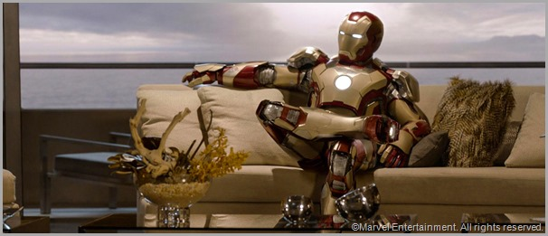 Iron Man takes a breather. CLICK to visit the official IRON MAN 3 site.