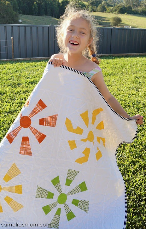 Citrus Burst Quilt by SameliasMum