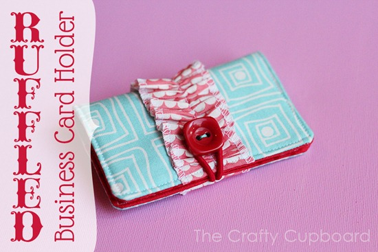 Ruffled Business Card Holder by the Crafty Cupboard