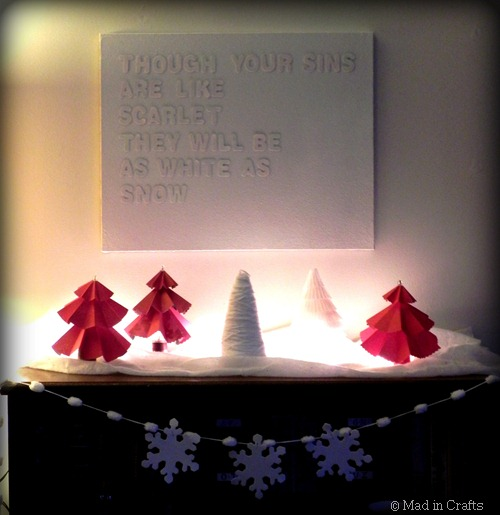 christmas mantel based on bible passage