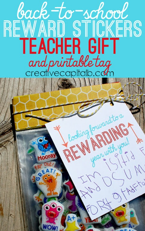 Useful Teacher Gift for Back to School_ Reward Stickers with this free printable tag