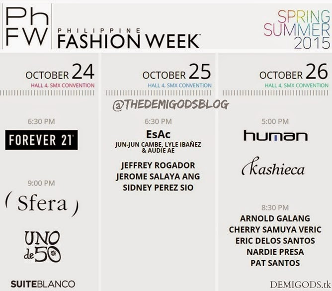 Philippine Fashion Week Spring Summer 2015