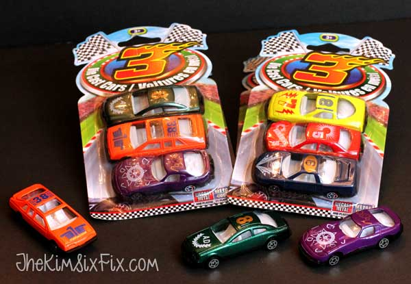 Dollar store matchbox cars