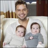 Ricky Martin e filhos