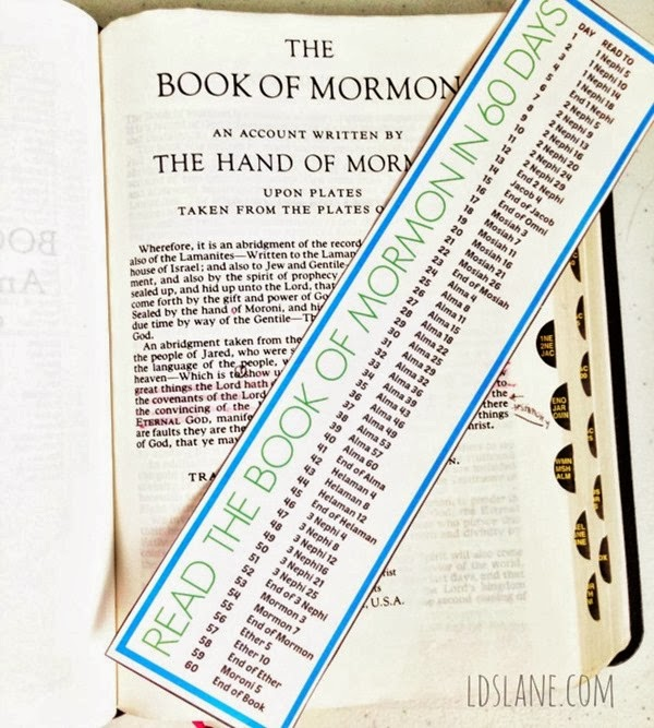 Book of Mormon in 60 Days - free download bookmark