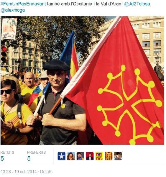 a la manifestacion d'anuèch a Barcelona