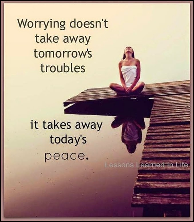 worry vs peace